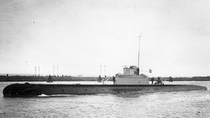 O-13 at Vlissingen before she fled across the channel to join the Royal Navy